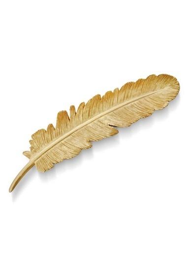 The Mia Dekor  Kuş Tüyü Gold - 30 Cm Altın